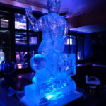 Footballer - Ice Luge - Luge for Vodka - Ice Carving Sculpture | Ice Agency