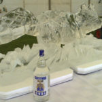 Fox Ice Sculpture Vodka Ice Luge for Farmers College Ball