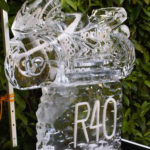 Motorbike Ice Sculpture Vodka Ice Luge