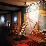 Titanic theme party – backdrop, decking and chairs