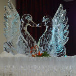 Swans Forming Heart Wedding Ice Sculpture Royal Wedding