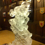 Skier Ice Sculpture Vodka Ice Luge for Apres Ski Theme Party