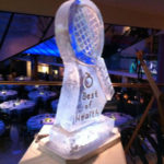 Tennis Racket Ice Sculpture Vodka Ice Luge