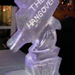 Hand And Bottle Ice Sculpture Vodka Ice Luge for The Hangover Theme Party