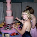Pink chocolate fountain – smooth flowing chocolate