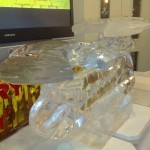 Chinook Helicopter - Ice Luge - Luge for Vodka - Ice Carving Sculpture | Ice Agency