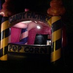 Popcorn and candy floss inflatable hut