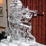 Raf Gunner - Ice Luge - Luge for Vodka - Ice Carving Sculpture | Ice Agency
