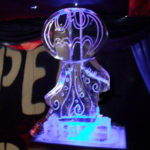 Batman Ice Sculpture Vodka Ice Luge for Superheroes Theme Party Ideas
