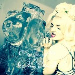 Cirque Le Soir Club Ice Sculpture Vodka Ice Luge of He She Torso