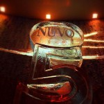 Number 5 Ice Sculpture Vodka Ice Luge for Nuvo Bar Party