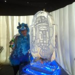 Star Wars R2D2 double luge - Ice Luge - Luge for Vodka - Ice Carving Sculpture | Ice Agency