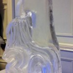 Tap and number birthday luge - Ice Luge - Luge for Vodka - Ice Carving Sculpture | Ice Agency