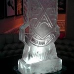 West Ham FC Football Club Ice Sculpture Vodka Ice Luge