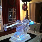 007 Gun with Silencer - Ice Luge - Luge for Vodka - Ice Carving Sculpture | Ice Agency
