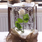 White Rose Wedding Ice Sculpture Table Centrepiece