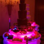 twin chocolate fountains white and dark