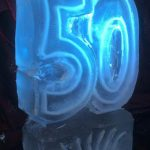 50th Ice Sculpture Vodka Ice Luge for Birthday Party Kent