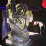 18 Number Ice Sculpture Vodka Ice Luge