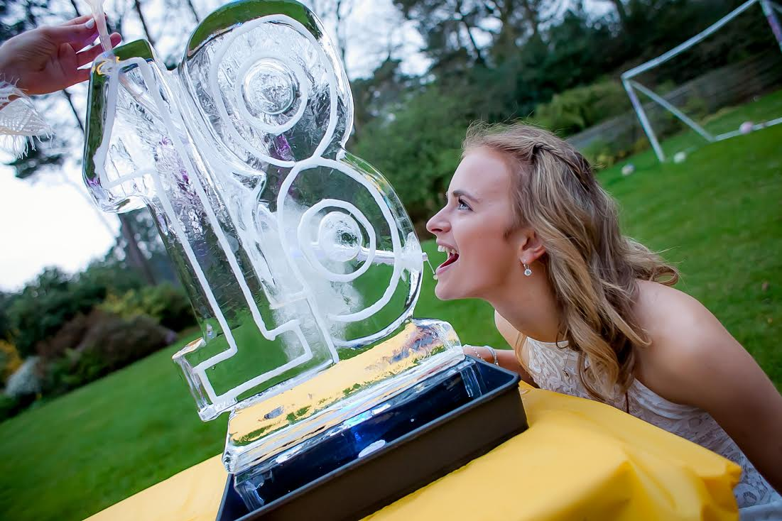 18 Party Vodka Ice Luge - 18th Birthday Luge - Party Ice Vodka Luge - Luge for Vodka - Ice Carving Sculpture | Ice Agency