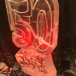 50th Birthday - Ice Luge - Luge for Vodka - Ice Carving Sculpture | Ice Agency