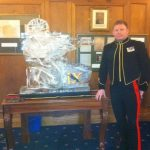 Officers Mess Vodka Luge - Vodka Luge - Ice Carving Sculpture | Ice Agency