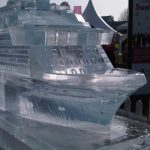 Celebrity Cruise Ship Ice Sculpture