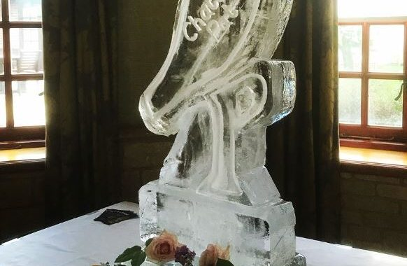 Pennyhill Park Surrey - Ice Luge - Luge for Vodka - Ice Carving Sculpture | Ice Agency