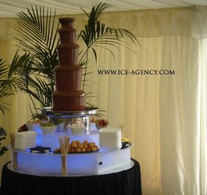 chocolate fountain wedding cake chocolate corporate event agency 12702