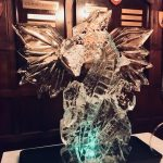 Winged Dragon - Ice Luge - Luge for Vodka - Ice Carving Sculpture | Ice Agency
