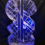 Dollar Sign - Ice Luge - Luge for Vodka - Ice Carving Sculpture | Ice Agency