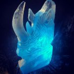 Rhino Charity Event - Ice Luge - Luge for Vodka - Ice Carving Sculpture | Ice Agency