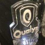 Etched Logo - Ice Luge - Luge for Vodka - Ice Carving Sculpture | Ice Agency