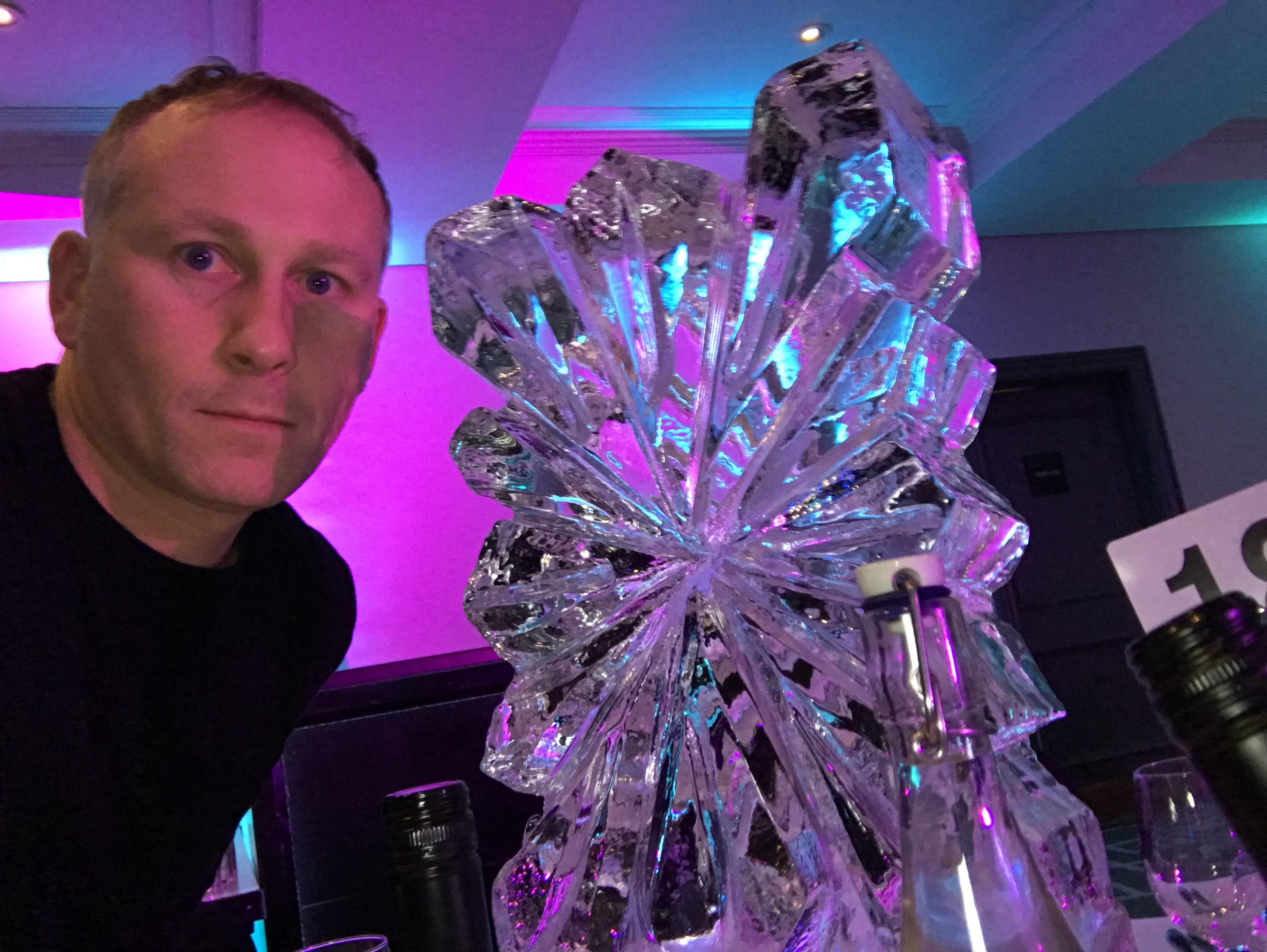 Snowflake - Ice Luge - Luge for Vodka - Ice Carving Sculpture | Ice Agency