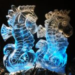 Seahorse Vodka Ice Luge Ice Sculpture For Kent Wedding