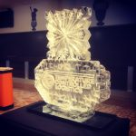 Snowflake Logo Ice Sculpture Vodka Luge
