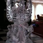 Kings Royal Hussars Cap Badge Ice Sculpture Vodka Luge for military party