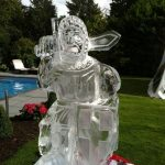 Crusade knight ice luge for an event in the summer | Ice Agency