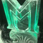 M Letter Ice Sculpture Vodka Ice Luge for Birthday Party
