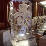 REME Cap Badge Christmas Party Ice Sculpture
