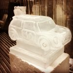 Mini Car Ice Sculpture Vodka Ice Luge for 40th Birthday Party