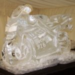 Ducati Motorbike Ice Sculpture Vodka Ice Luge