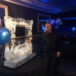Picture Frame Ice Sculpture Vodka Ice Luge in Leicester Square Party