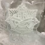 Gurkha Vodka Ice Luge in the freezer ready to go to an event - Luge for Vodka - Ice Sculpture | Ice Agency