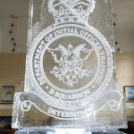 RAF Cranwell Ice Vodka Luge Lincolnshire - Vodka Luge - Ice Carving Sculpture | Ice Agency