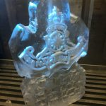 Royal Artillery Cap Badge - Ice Luge - Luge for Vodka - Ice Sculpture | Ice Agency
