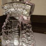 Royal Marines Dagger Party Ice Luge - Luge for Vodka - Ice Carving Sculpture | Ice Agency