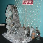 Ski Jump Ice Sculpture Vodka Ice Luge for Never Mind The Buzzcocks
