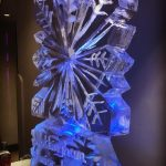 Nottingham Snowflake & Wording - Ice Luge - Luge for Vodka - Ice Carving Sculpture | Ice Agency