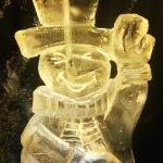 Snowman - Ice Luge - Luge for Vodka - Ice Carving Sculpture | Ice Agency